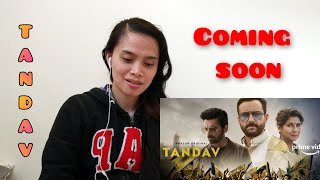 TANDAV|OFFICIAL TRAILER REACTION|Season 1