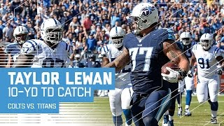 Mariota to Walker on 3rd Down Sets Up a TD Pass to Lineman Taylor Lewan! | Colts vs. Titans | NFL