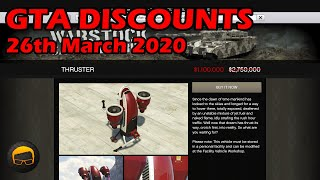 GTA Online Best Vehicle Discounts (26th March 2020) - GTA 5 Weekly Car Sales Guide #31