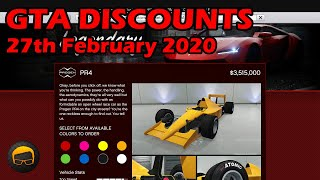 GTA Online Best Vehicle Discounts (27th February 2020) - GTA 5 Weekly Car Sales Guide #27