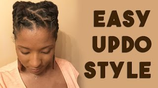 SHORT LOCS TWO STRAND TWISTS UPDO | TUTORIAL